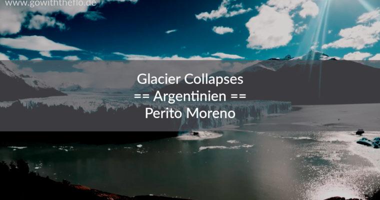 Ein großes Stück des Perito-Moreno-Gletscher bricht ab